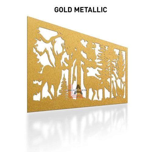 Gold-Metallic-Laser-Cut-Metal-Aluminum-Fence-Panel