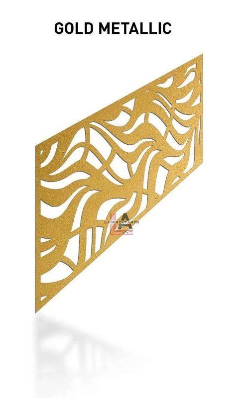 Gold-Metallic-Laser-Cut-Metal-Aluminum-Railing-Panel