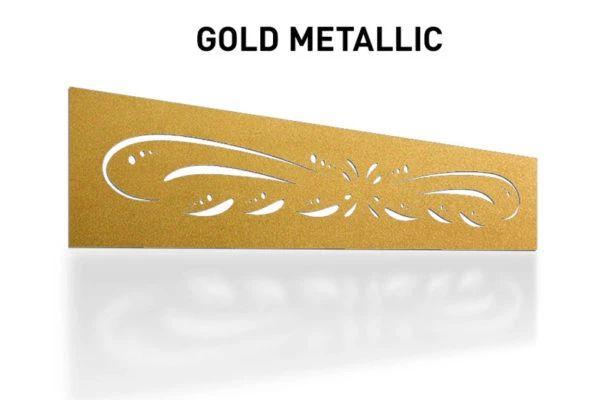 Laser-Cut-Gold-Metallic-Metal-Aluminum-Fence-Topper-Panel