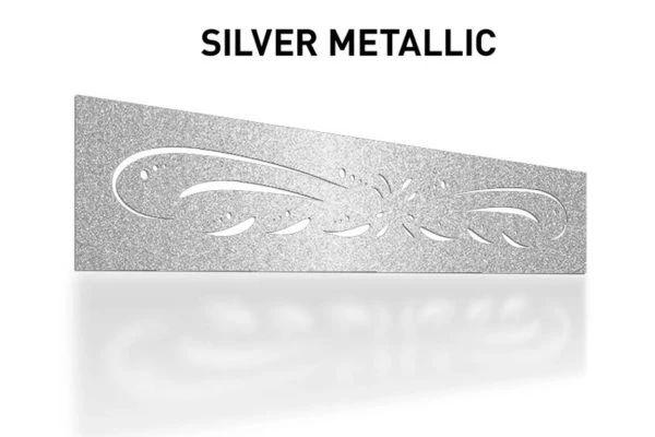 Laser-Cut-Silver-Metallic-Metal-Aluminum-Fence-Topper-Panel