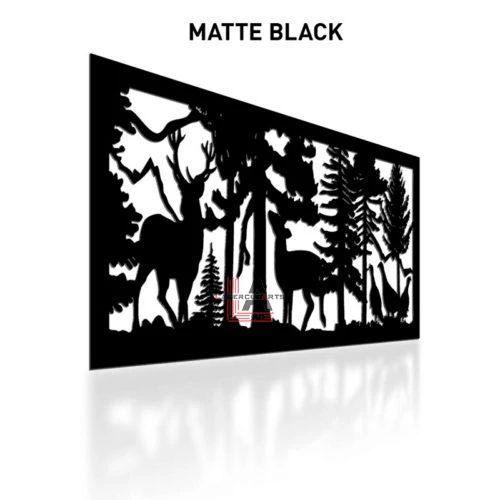 Matte-Black-Laser-Cut-Metal-Aluminum-Fence-Panel