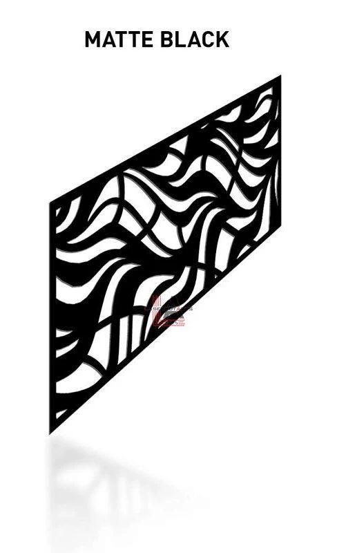 Matte-Black-Laser-Cut-Metal-Aluminum-Railing-Panel