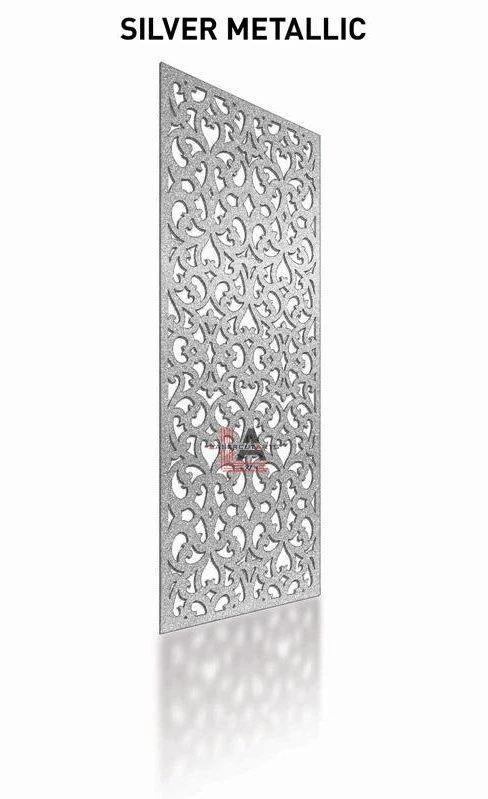 Silver Metallic Laser Cut Metal Pergola Screen Panel