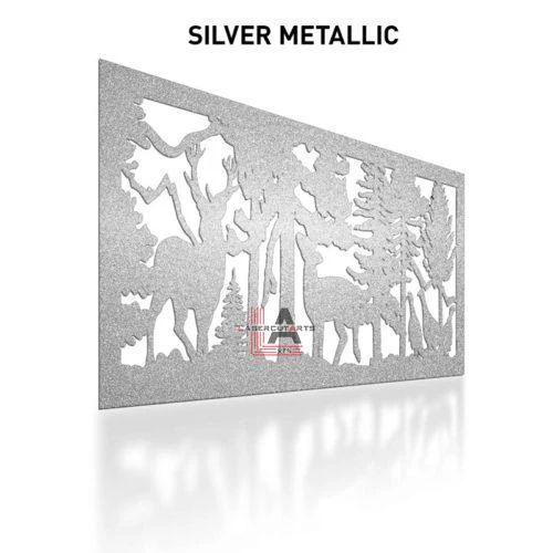 Silver-Metallic-Laser-Cut-Metal-Aluminum-Fence-Panel