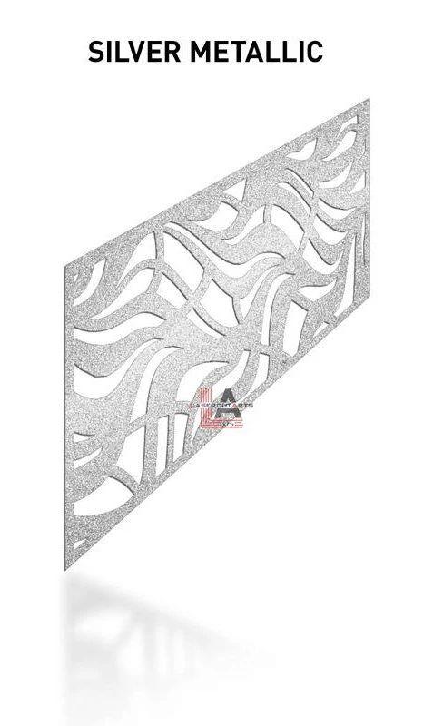 Silver-Metallic-Laser-Cut-Metal-Aluminum-Railing-Panel