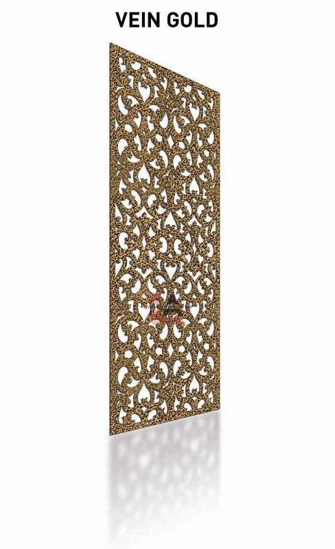 Vein Gold Laser Cut Metal Pergola Screen Panel