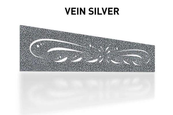 Vein-Silver-Laser-Cut-Metal-Aluminum-Fence-Topper-Panel