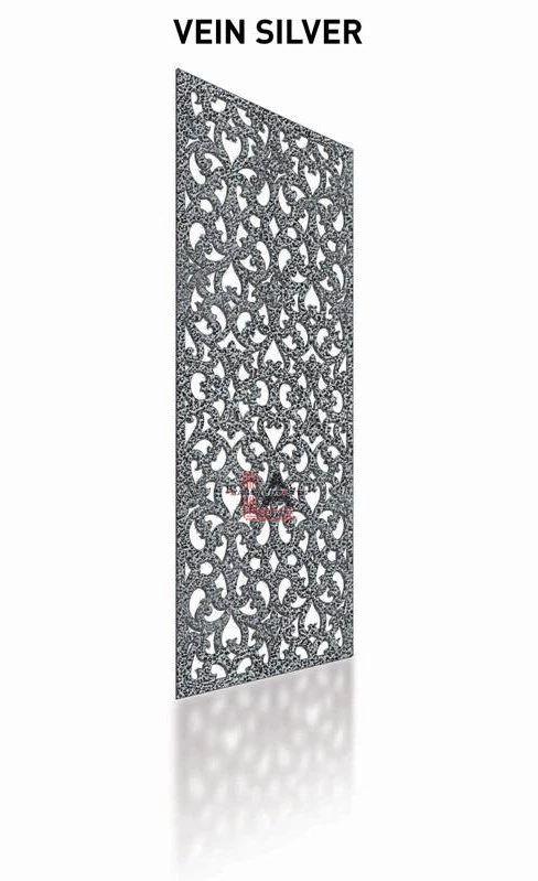 Vein SilverLaser Cut Metal Pergola Screen Panel