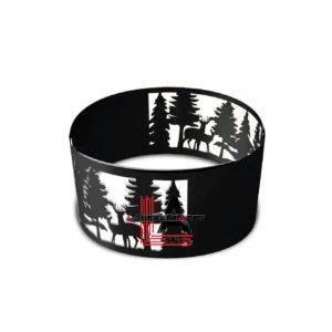 Firepit ring with Deer Design