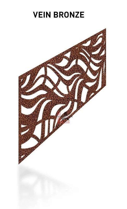 Vein-Bronse-Laser-Cut-Metal-Aluminum-Railing-Panel