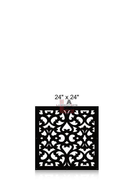 Laser-Cut-Metal-Privacy-Panel-24x24